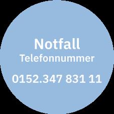 Notfalltelefonnummer 0152.347 831 11